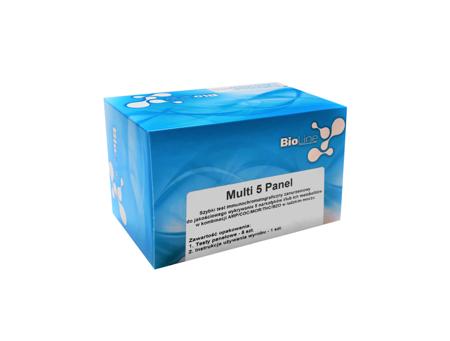 Test narkotykowy z moczu - 5 parametrów: AMP, COC, MOR, THC, MDMA - BioLine Multi 5 Panel  - 25 testów
