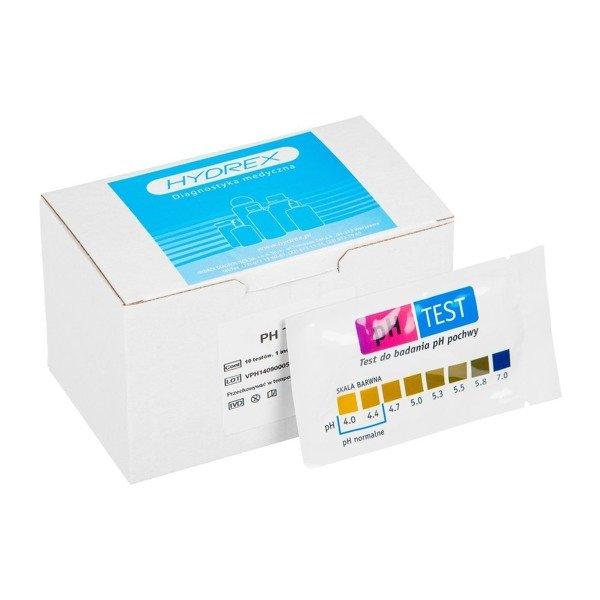 pH TEST (10 testów) - szybki test do badania pH pochwy